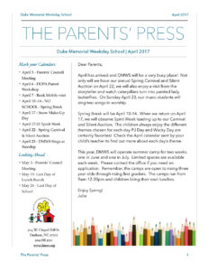 Parents Press - April 2017 - DMWS News