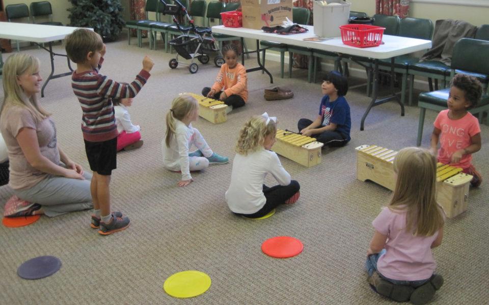 Music Class at Duke Memorial Weekday School